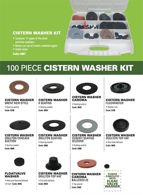 Toilet Washer 3 pce kit Cistern Washers Caroma Washers
